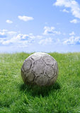 Football on lawn Royalty Free Stock Images