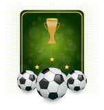 Football layout with champion cup Stock Image
