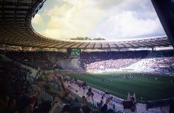 Football lazio. The olympic stadium of rome for the football match lazio vs salernitana stock photos