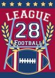 Football league 28. Vector illustration of an embroidery football design Stock Photo