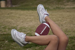 Football legs Stock Photos