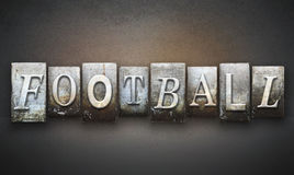 Football Letterpress Stock Photography