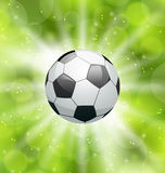 Football light background with ball Stock Images