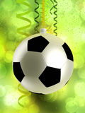 Football like christmas bauble Royalty Free Stock Image