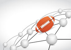 Football link sphere network connection concept Royalty Free Stock Photography