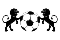 Football and lions. Vector sign isolated on white background. Football and lions royalty free illustration
