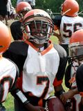 Football - little league quarterback. Photo of little league football quarterback Royalty Free Stock Photography