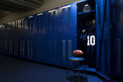 Football Locker Room Stock Image