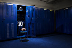 Football Locker Room Stock Photography