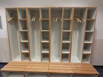 Football locker room. Football, europe royalty free stock photography