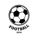 Football logo, ball icon, isolated on white background. Vector Royalty Free Stock Images