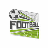 Football logo. The image on the football theme Stock Images