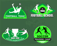 Football logo set Royalty Free Stock Images