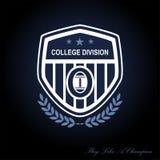 Football logo stock illustration