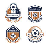 Football logo. Vector set sport emblems. Logo badges and labels  Football icon Royalty Free Stock Photography