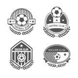 Football logo. Vector set sport emblems. Logo badges and labels  Football icon Stock Image