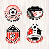 Football logo. Vector set sport emblems. Logo badges and labels  Football icon Royalty Free Stock Images