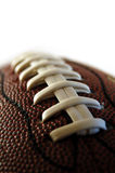 Football Macro. Macro focus of an American style football Royalty Free Stock Photos