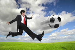 Football madness Royalty Free Stock Photos