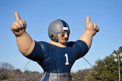 Football Man. Inflatable football man ready for the big game Royalty Free Stock Image