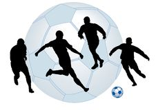 Football man Stock Photography