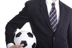 Football manager hold ball Royalty Free Stock Photo