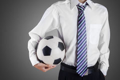 Football manager hold ball Royalty Free Stock Photography