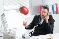 Football manager Stock Photo