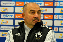 Football manager Stanislav Cherchesov. Royalty Free Stock Images
