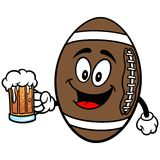 Football Mascot with Beer Stock Photo