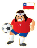 Football mascot Chile Royalty Free Stock Image