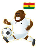 Football mascot Ghana Stock Photography
