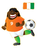 Football mascot Ivory Coast Stock Photography