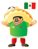 Football mascot Mexico Royalty Free Stock Photos