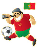 Football mascot Portugal Stock Photography