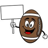 Football Mascot with Sign Royalty Free Stock Photos