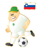 Football mascot Slovenia Stock Photo