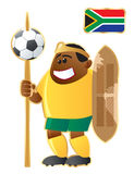 Football mascot South African Republic Stock Images