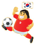 Football mascot South Korea Royalty Free Stock Photo