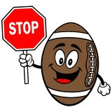 Football Mascot with Stop Sign Stock Photos