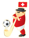 Football mascot Switzerland Royalty Free Stock Image
