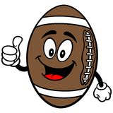 Football Mascot with Thumbs Up Stock Images