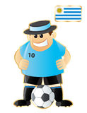Football mascot Uruguay Stock Image