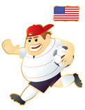 Football mascot USA Royalty Free Stock Images