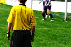 Football match #1. A soccer match in germany Royalty Free Stock Images