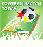 Football match. Creative football match illustration for all design conditions Stock Photography