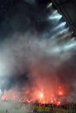 Football match between Aris and Boca Juniors Stock Image