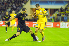 Football match FC BATE - FC Barcelona Royalty Free Stock Image