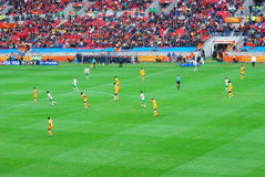 Football match on football world cup Royalty Free Stock Images