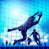 A football match Royalty Free Stock Image